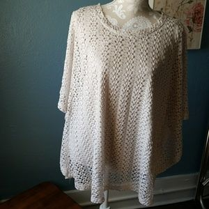 Lined crochet top